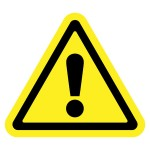 47418870 - hazard warning attention sign. icon in a yellow triangle with exclamation mark symbol, isolated on a white background. traffic symbol. stock vector illustration